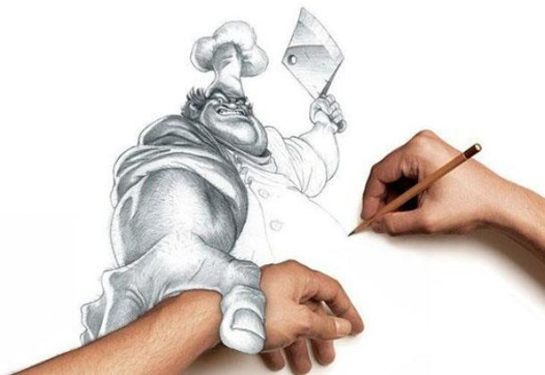 Traditional drawing na celowniku