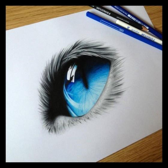 Realistic Cat Eye Drawings | www.imgkid.com - The Image ...
